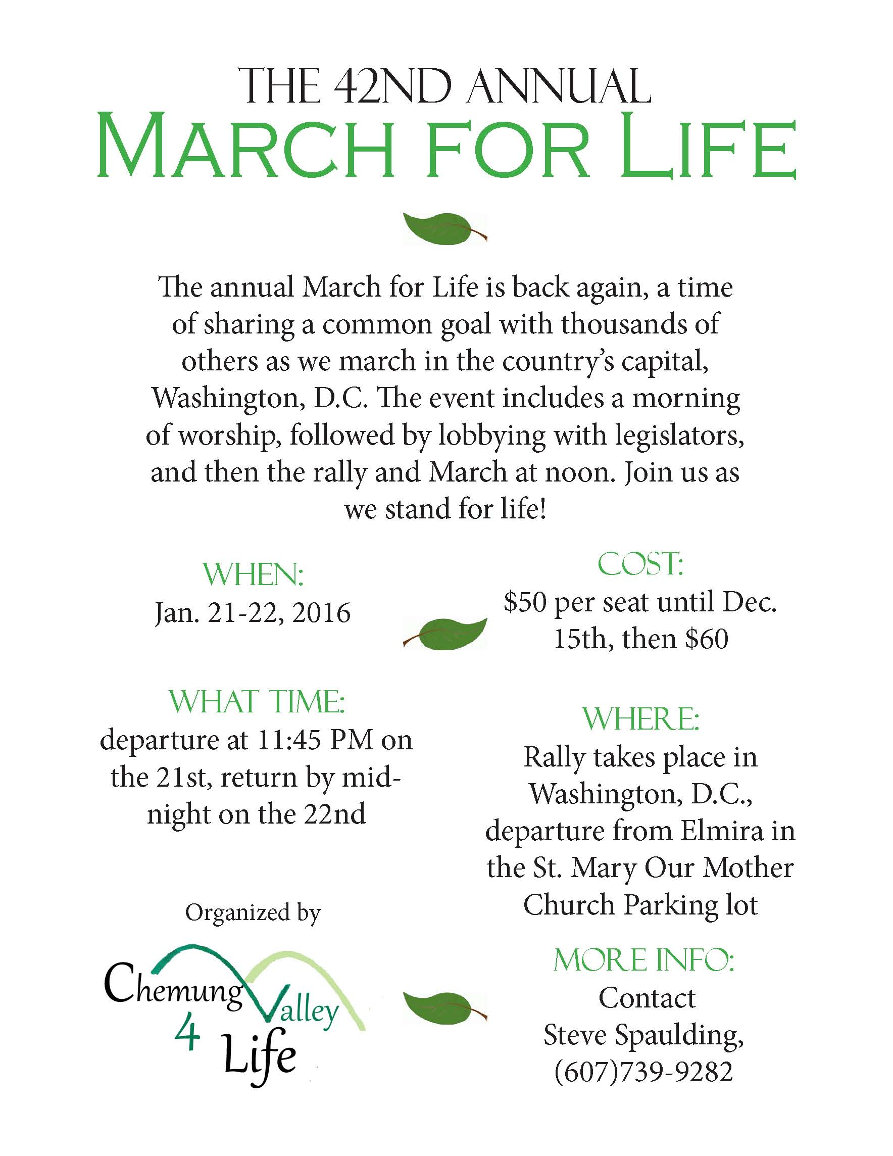 March for life flyer2